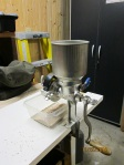 Old fashioned hand crank mill